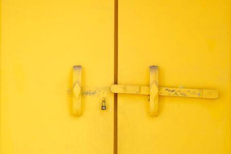 yellow vintage door