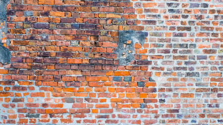 old brick wall: Background of old vintage brick wall