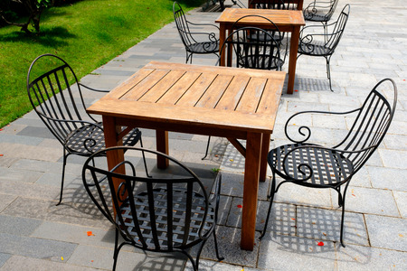 seating area: Outdoor area Stock Photo
