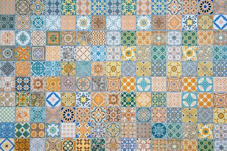 patrones de baldosas de cerámica Foto de archivo