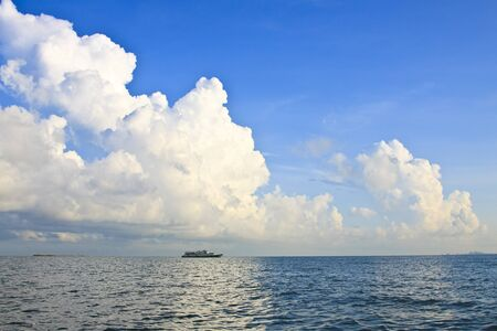 Blue sky and ocean
