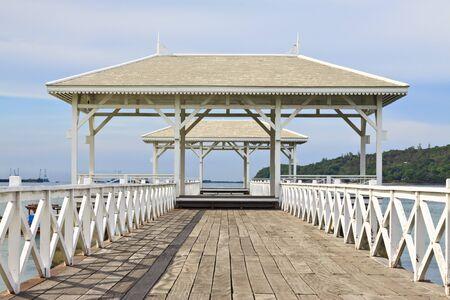 Wooden pier at si-chang island, thailand Stock Photo - 7179765