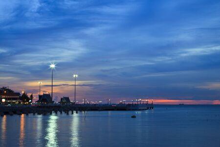 Twilight sea Stock Photo