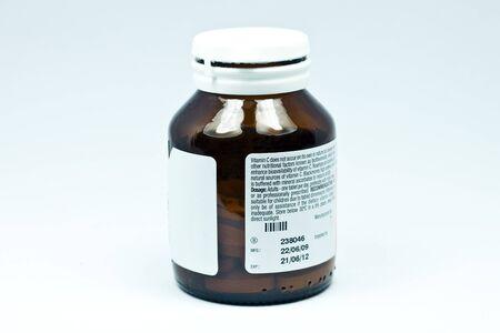 Vitamin C bottle photo