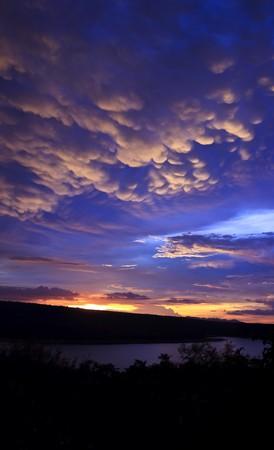 Sunset at Lumtakong lake, Thailand