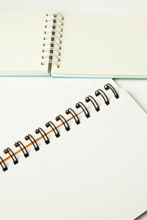 open two notebook with spiral