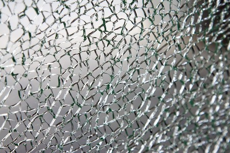 shatter: Broken glass background or texture Stock Photo