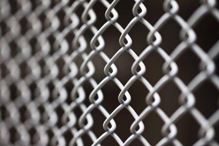 metallic net with black background photo