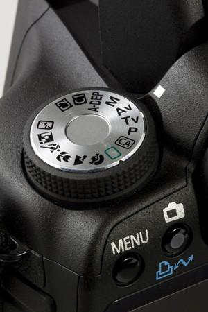 Closeup dial button on DSLR camear Stock Photo - 7494215