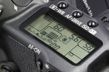 Closeup secondary display on DSLR camera Stock Photo - 7494219