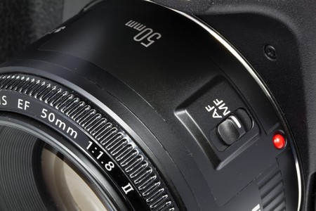 Closeup 50mm DSLR camera len Stock Photo - 7494208