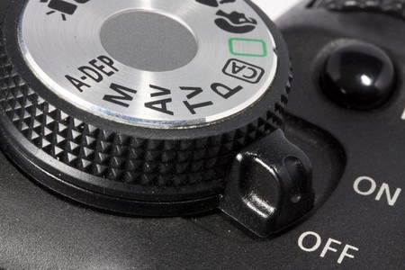 Closeup dial and on/off button on DSLR camear Stock Photo - 7494211