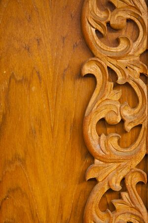 Carved wooden detail