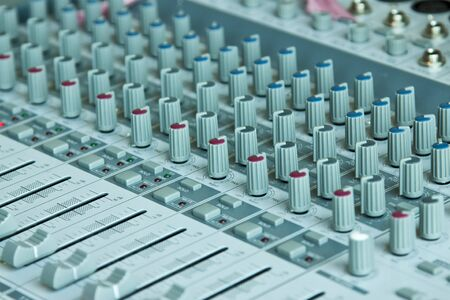 Adjusting equipment for sound record, Mixing console  photo