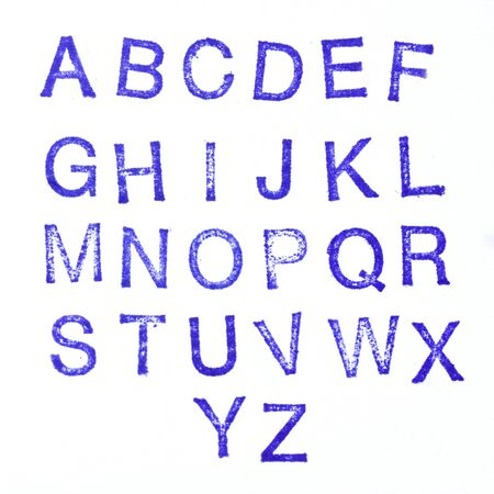 Alphabet stamp, all letters  Banco de Imagens