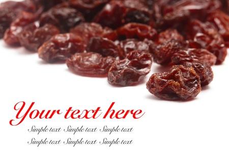 Raisins isolated on a white background  Stock Photo