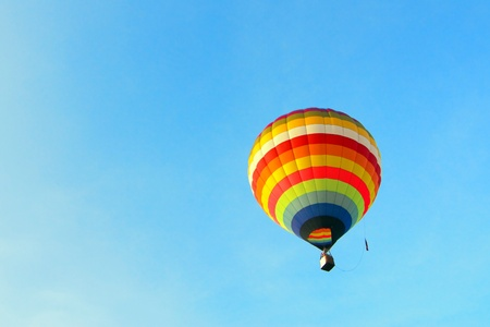 carnival ride: Colorful Hot Air Balloon Stock Photo