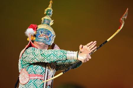 Khon - Thai classical masked ballet - Ravana prepare to war with Rama