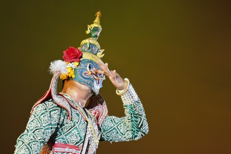 Khon - Thai classical masked ballet  - Ravana prepare to war with Rama Stock Photo - 8445042