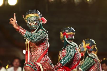 Khon - Thai classical masked ballet  - Giant Soldier Stock Photo