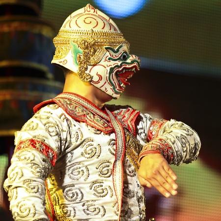 Khon - Thai classical masked ballet  - Hanuman Stock Photo - 8445039