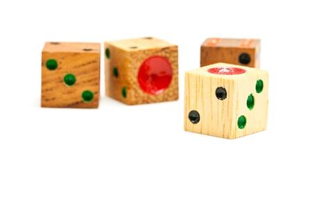 Wooden Dice Stock Photo