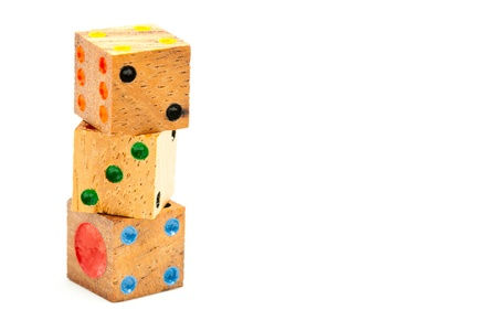 Stack Wooden Dice