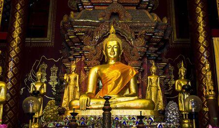 vihar: Buddha image at Wat Chiangman, Chiang Mai Thailand
