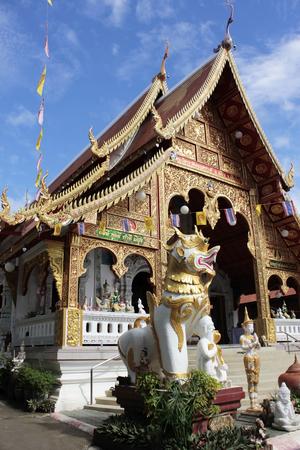 buddhist structures: Wat Loi Kroh, Chiang Mai Thailand
