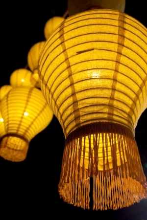 colorful lantern: Colorful Lantern Festival or Yee Peng Festival  North of Thailand  in Chiang Mai ,Thailand