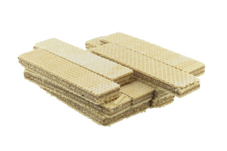 perfectly: Wafers, Fresh perfectly wafers isolated on white background.
