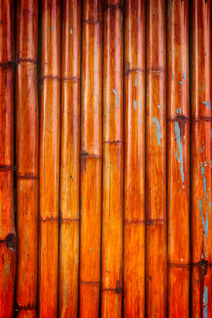 Vintage bamboo wall texture with natural pattern. photo
