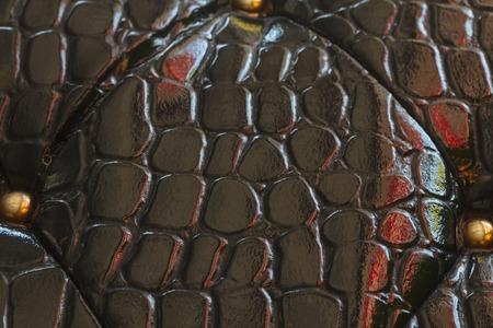 black leather texture: Black leather texture - background. Black leather texture of sofa closeup shot. Stock Photo