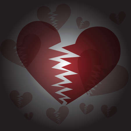 heartbroken: Valentines day background with hearts .Heartbroken valentines day