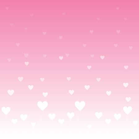 心でバレンタインデーの背景  イラスト・ベクター素材