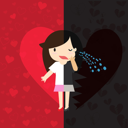 Two Sides of Love With both happy and sorrow.