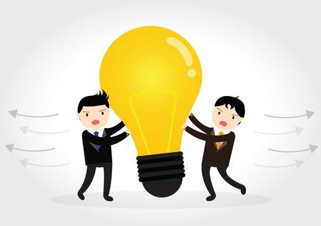Businessman is plagiarizing idea to work