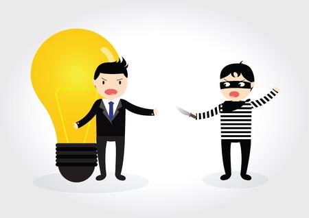 泥棒強盗のビジネスマンからのアイデア 写真素材 - 36079248