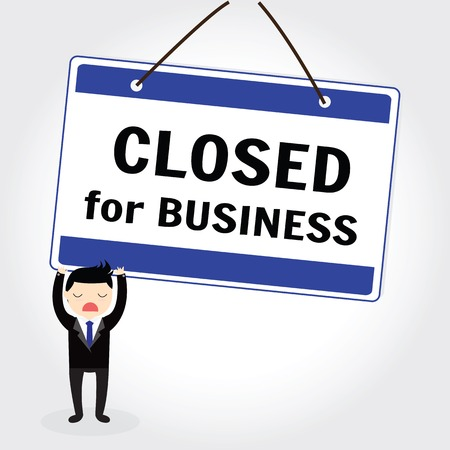 inform: The words close for Business store or business to inform customers