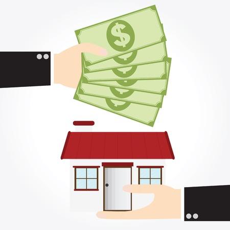手の家のためのお金をもたらす