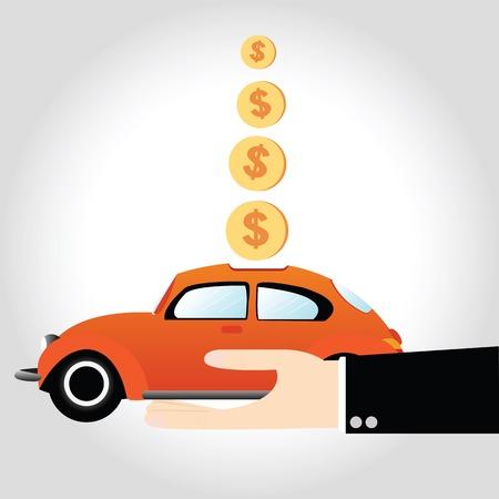 車の中でお金を節約ビジネス手形貯金箱