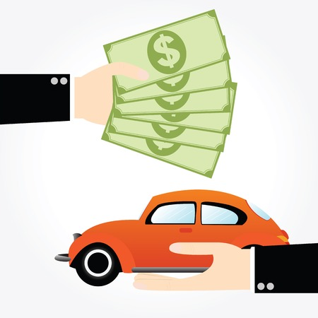 車のためのビジネス為替金  イラスト・ベクター素材