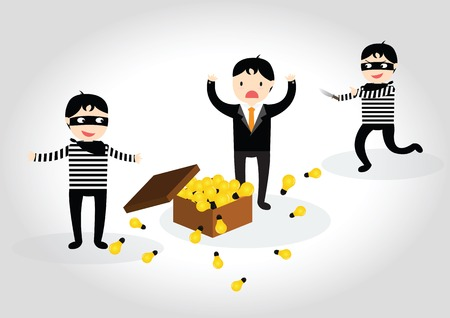 secretive: The thief steal light bulb idea from businessman