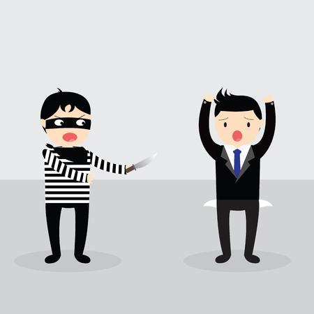 beroofd: Dieven beroofden maar zakenman geen geld