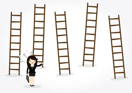 new job: Businesswoman looking for new job opportunities