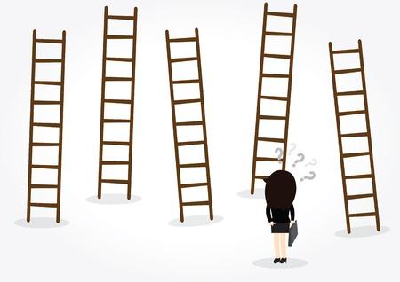 job opportunities: Businesswoman looking for new job opportunities