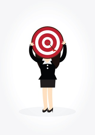 set the intention: Business woman with target on head