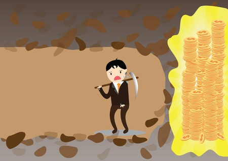 Businessman give up before reach money