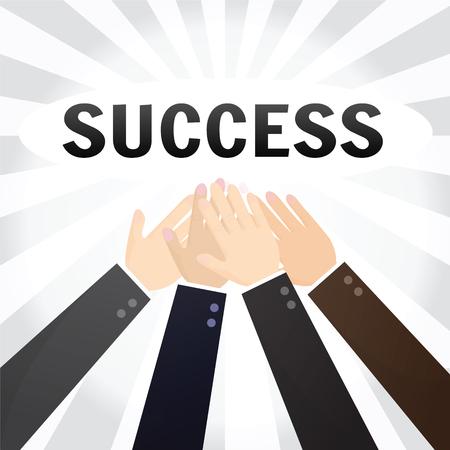 multirracial: Business Team Work. Executivos Multiracial unir as m�os. Ilustração