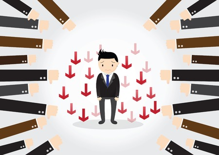 accepted: Businessman feedback. Businessman is not successful, no one accepted.